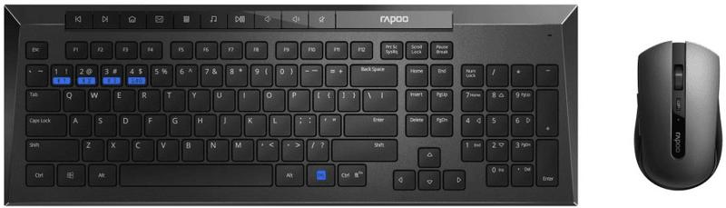 Rapoo 8200M, set klávesnice a myši