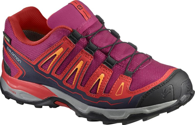Salomon X-ULTRA GTX J Sangria/Poppy Red/Brigh 34