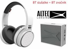 Altec Lansing Ring N Go + Pocket, Bluetooth slušalke in zvočnik - komplet, bel