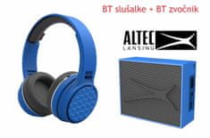 Altec Lansing Ring N Go + Pocket, Bluetooth slušalke in zvočnik - komplet, moder