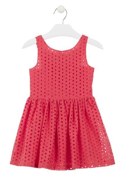 Losan dívčí šaty 98 červená
