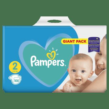 Pampers Pleny New Baby 2 Mini (4-8kg) Giant Pack - 100 ks