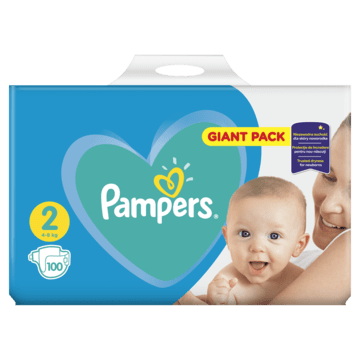 Pampers plenice New Baby 2 Mini, Giant Pack, 100 kosov