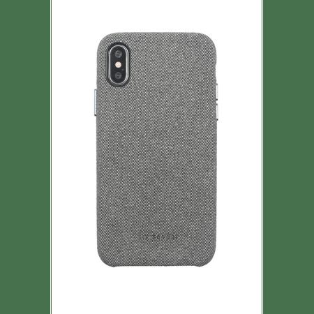 SO SEVEN Premium Gentleman Case Fabric Grey tok iPhone X/XS-re SSBKC0026