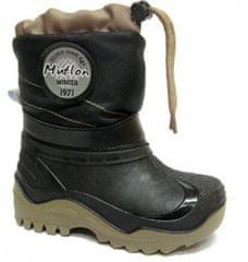 Ren But fantovski čevlji, z vezalko, črno-rjavi, 29-30, črni