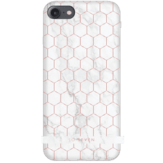 SO SEVEN Milan Case HoneyComb Marble White Kryt pro iPhone 6/6S/7/8 SSBKC0047