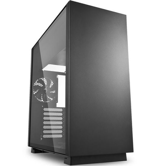 Sharkoon ohišje MIDI T ATX W/O PSU PURE STEEL BLACK, črno