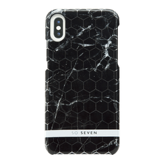 SO SEVEN Milan Case Hexagonal Marble Black Kryt pro iPhone X/XS SSBKC0011