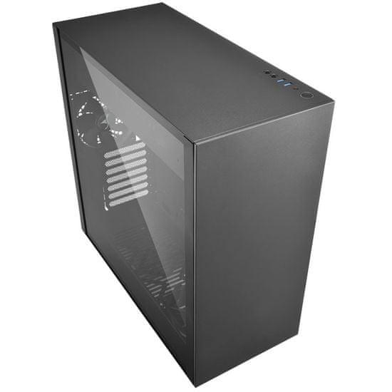 Sharkoon ohišje MIDI T ATX W/O PSU PURE STEEL BLACK, črno