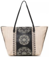 Desigual béžová kabelka Bols Lady Capri Zip 88f42d01f30