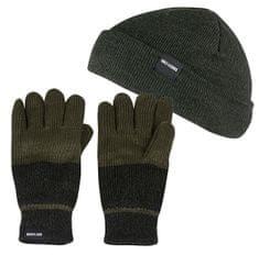 ONLY&SONS Pánský set zimní čepice a rukavice X-Box Gloves&Beanie Forest Night