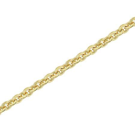 Brilio Silver Aranyozott ezüst lánc Anker 45 cm 471 086 00142 05 - 3,34 g ezüst 925/1000