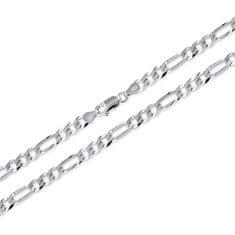 Brilio Silver MęskaŁańcuch wykonane ze srebra Figaro 55 cm 471 086 00166 04 - 15,10 g srebro 925/1000