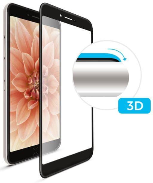 FIXED Ochranné tvrzené sklo 3D Full-Cover pro Samsung Galaxy A6+, s lepením přes celý displej, černé FIXG3D-317-BK