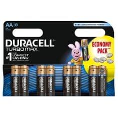 Duracell Alkalické baterie Turbo Max AA, balení 8ks 10PP030028