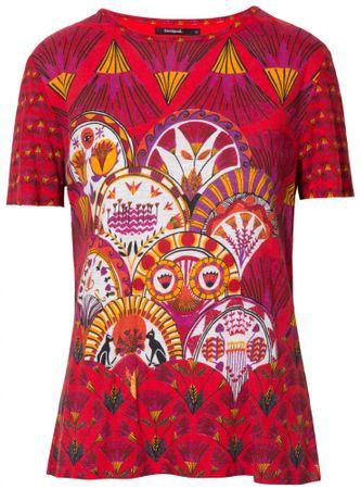 Desigual dámské tričko TS Radiance XS červená