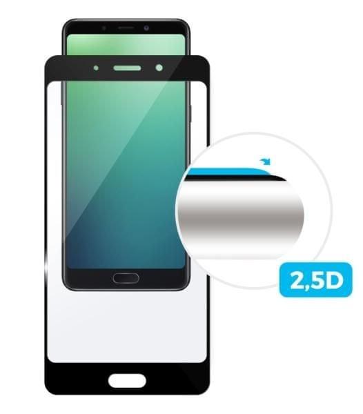 Fixed Ochranné tvrzené sklo Full-Cover pro Sony Xperia XZ2 Compact, přes celý displej, černé, 0,33 m