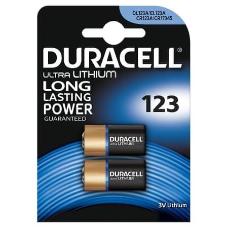 Duracell Lithiová baterie 123 3V, balení po 2 ks (CR123 / CR123A / CR17345) 10PP060001