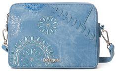Desigual modrá crossbody kabelka Bols Patch Mandala Ed a1566628283