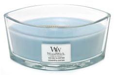 Woodwick dišeča sveča Morska sol in bombaž, 453,6 g