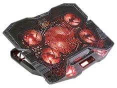 Evolveo Ania 5R, chladicí podstavec pro notebook, červené podsvícení ANIA5R