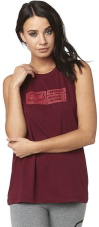 FOX koszulka damska Tracker Tank S burgund