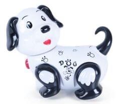 Rappa igrača pes z zvočnimi in svetlobnimi efekti, belo črn