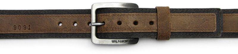 Wildskin Pánský tmavě hnědý kožený opasek 9091 (Délka pásku 95 cm) f83af87f72
