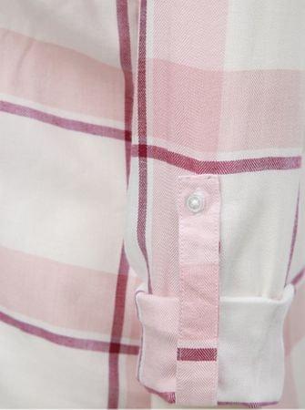 52d4d8718b6 TALLY WEiJL bílo-růžová kostkovaná košile s náprsními kapsami XL ...