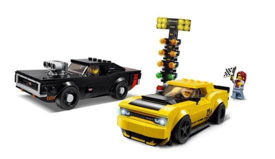 LEGO Speed Champions 75893 2018 Dodge Challenger SRT Demon i 1970 Dodge Charger R/T