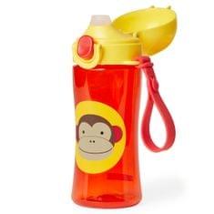 Skip hop Športová fľaša s uzáverom Zoo Opička 414 ml