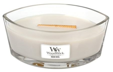 Woodwick dišeča sveča, topla volna, 453,6 g