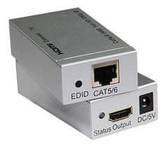 PremiumCord HDMI extender, 60 m, jeden przewód Cat5e/Cat6 khext60-1