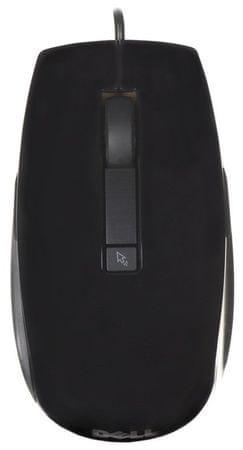 DELL šestitlačítková laserová myš, drátová, černá (570-10523)