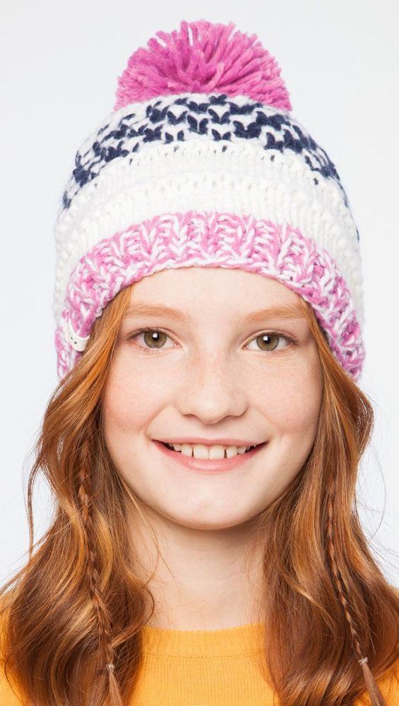 Brekka dívčí čepice Glacier Pon 54 růžová