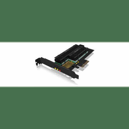 IcyBox razžiritvena kartica PCIe za 2x M.2 SSD, s hladilnikom