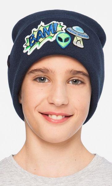 Brekka chlapecká čepice Pop Patch Beanie 54 modrá 70887ba8a9