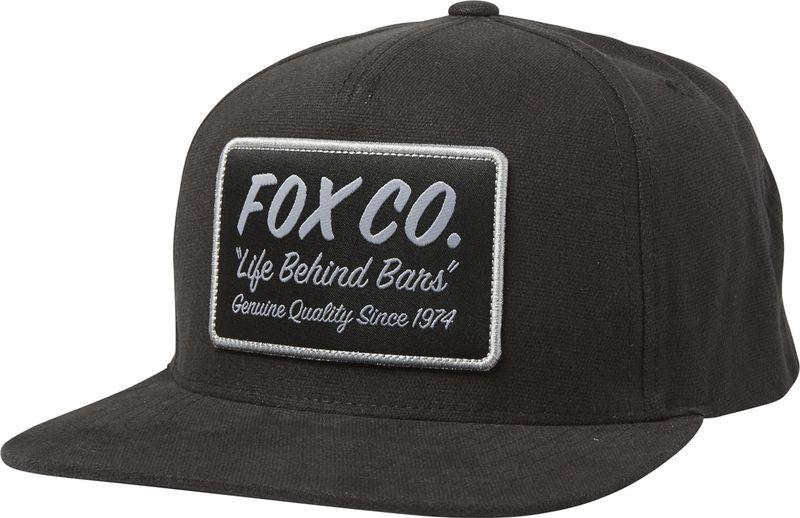 FOX pánská černá snapback kšiltovka Resin Snapback Hat