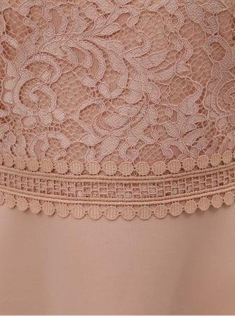 Dorothy Perkins světle růžové šaty s krajkovým topem S  af40e4fc29