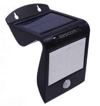 iQtech Aql solární světlo, 20+2 LED, černé