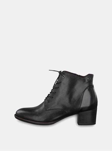 Tamaris černé kožené kotníkové boty 39 61d37c5b85