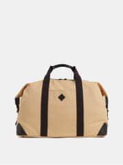 Gant hnědo-béžová cestovní taška s koženými detaily