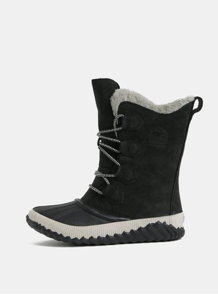 Sorel černé dámské semišové voděodolné zimní boty Newbie 42