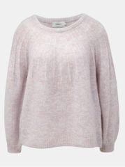 ONLY světle růžový žíhaný svetr s příměsí vlny Hannah