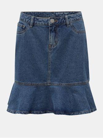 Noisy May modrá džínová sukně s volánem Sejla M  c6ff6eb2fb0