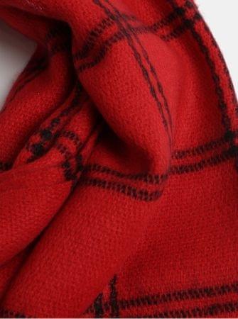 b3655a2ebc5 Vero Moda červená kostkovaná šála s třásněmi Martine - Parametry ...
