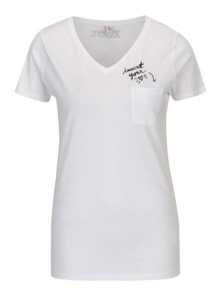 27f7b310e6a7 ZOOT Original bílé dámské tričko Insert your heart XL