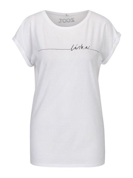 ZOOT Original bílé dámské tričko s potiskem Láska L