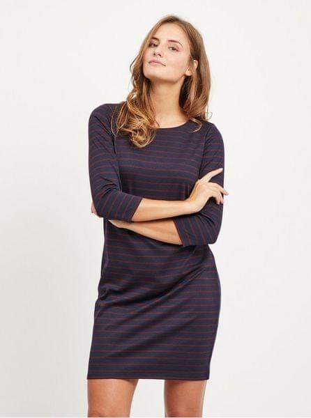 67431e1cfcd VILA tmavě modré pruhované šaty Tinna L