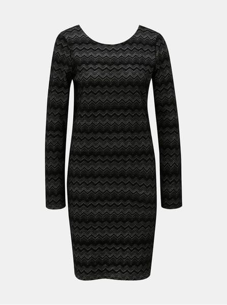 ONLY černé vzorované pouzdrové šaty S 5bb1bd40b1